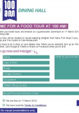 100 AM's 1st Food Tour – Sign Up via Facebook
