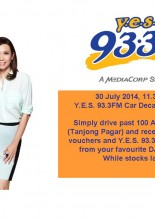 YES 933FM CAR DECAL GIVEAWAY ON 30 JULY