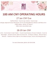 100 AM CNY Operating Hours 27-29 Jan 2017